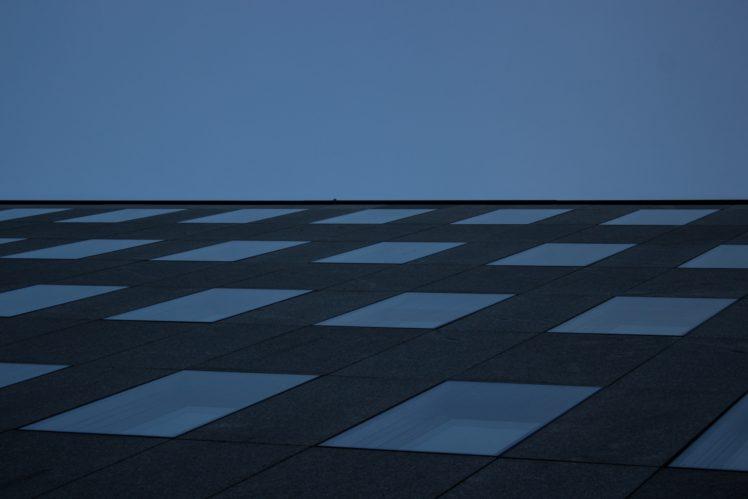Simple Blue Window Surreal Architecture Modern HD Wallpaper Desktop Background