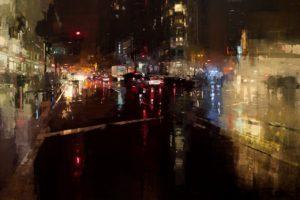 Jeremy Mann, Modern, Evening, Cityscape