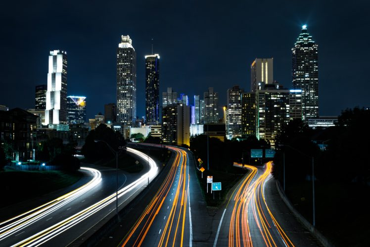 city, Lights, Cityscape, Road, Night HD Wallpaper Desktop Background