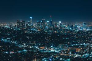 city, Lights, Cityscape, Night, Los Angeles