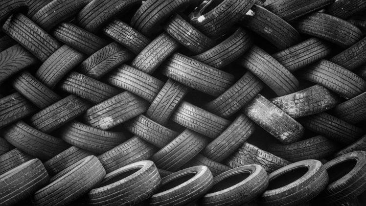 tire, Tires, Monochrome, Wall, Pattern, Texture HD Wallpaper Desktop Background