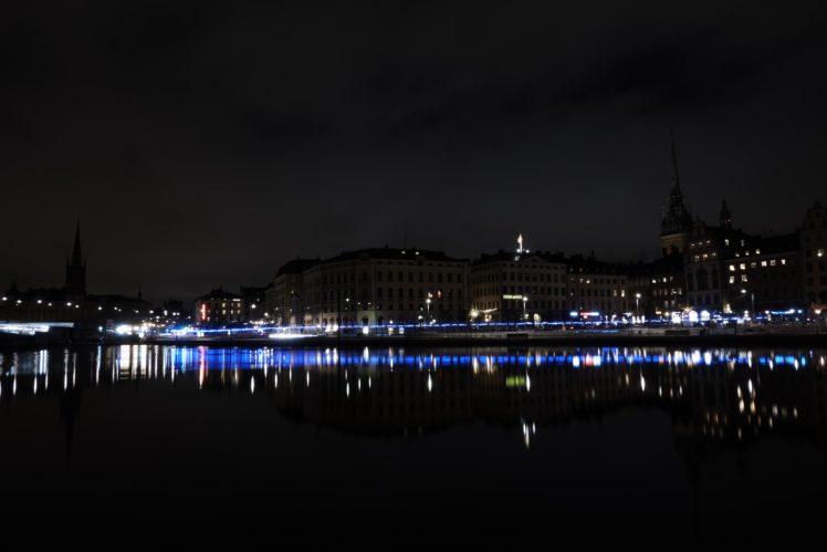 long exposure, Night, Stockholm HD Wallpaper Desktop Background