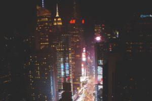 New York City, Building, Street light