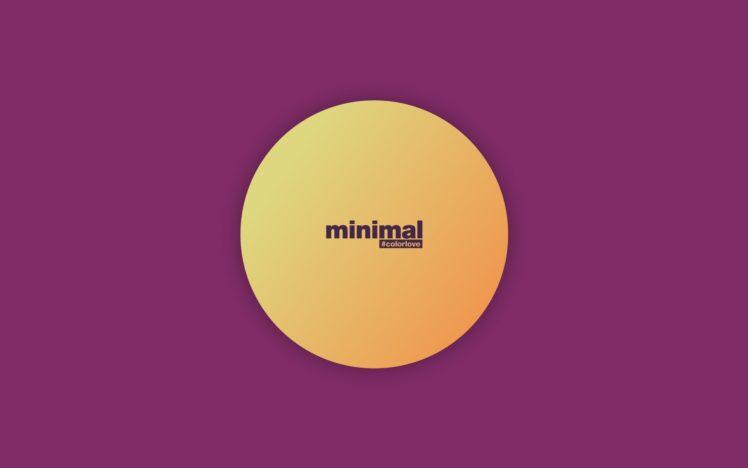 minimalism, Circle, Purple, Yellow HD Wallpaper Desktop Background