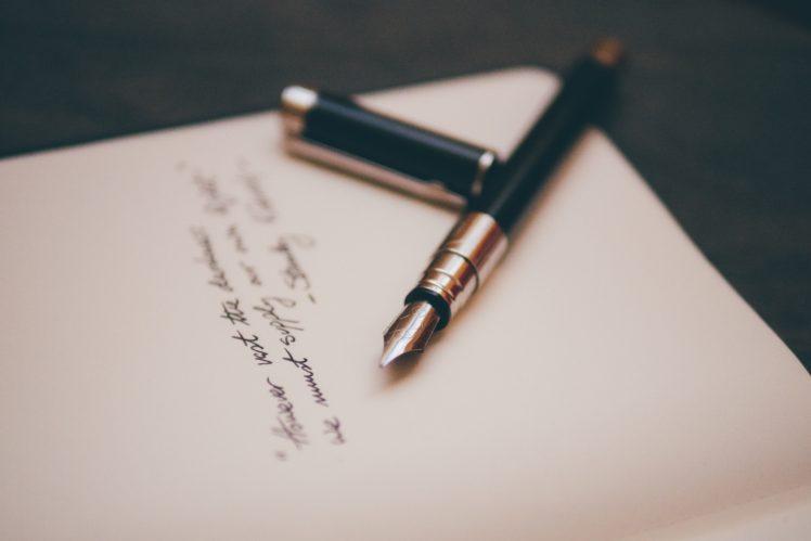 letter, Pens HD Wallpaper Desktop Background