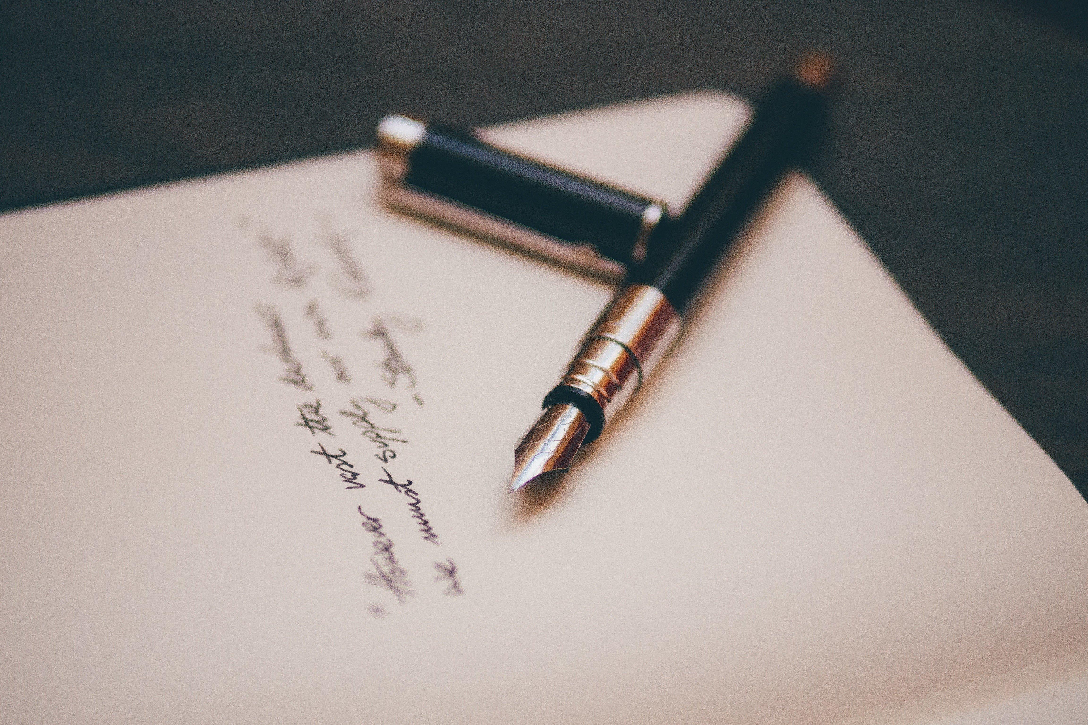 letter, Pens Wallpaper