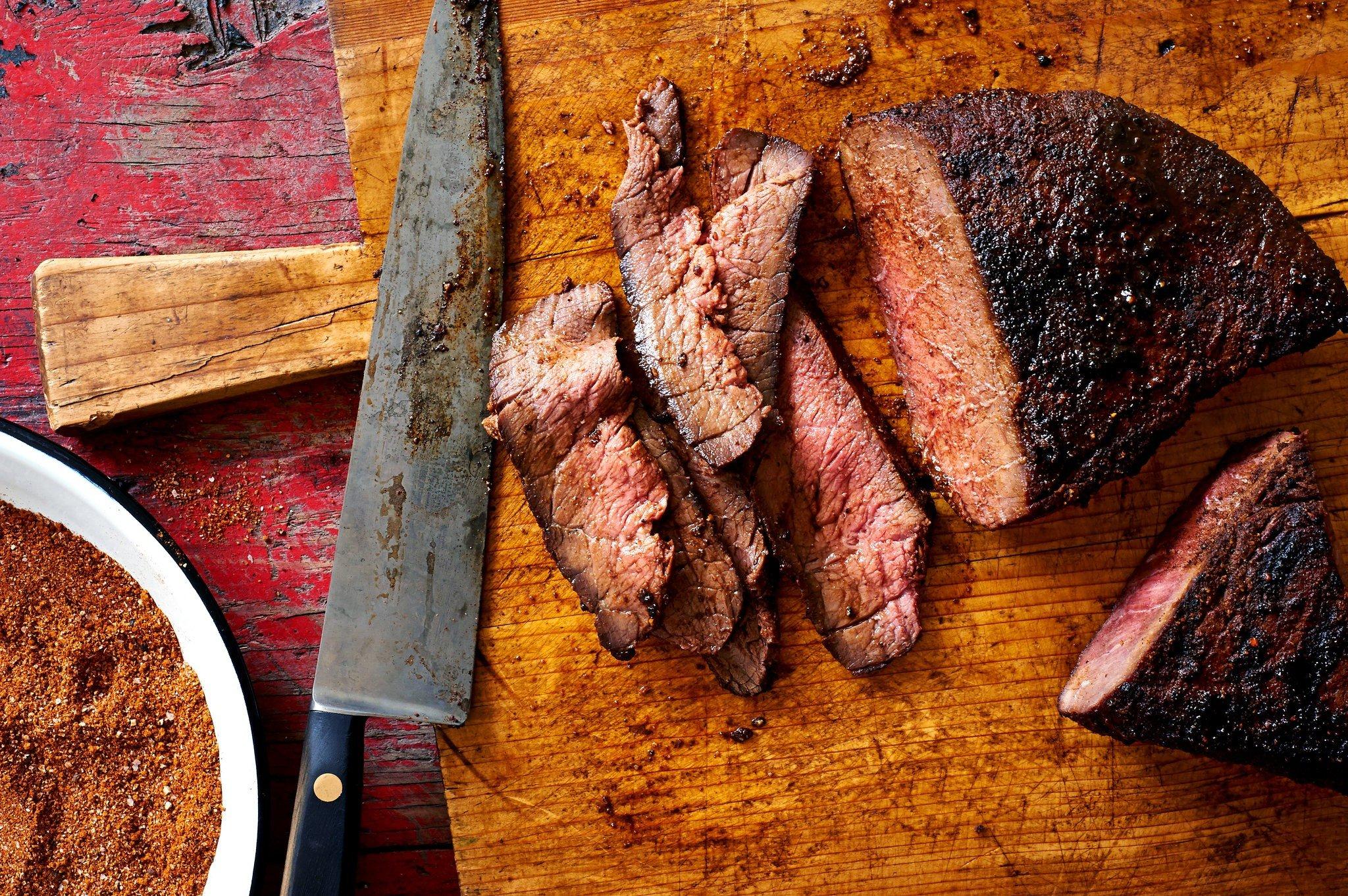 meat, Knife Wallpaper