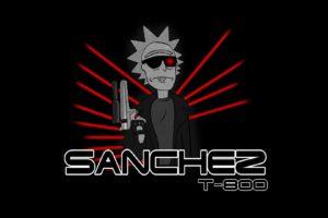 Rick Sanchez, Rick and Morty, Endoskeleton, Terminator, Crossover, Animation, Tv series