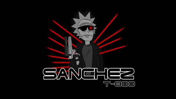 Rick Sanchez Rick And Morty Endoskeleton Terminator Crossover