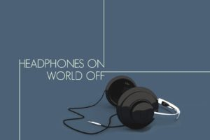 minimalism, Illustration, Headphones, Blue background