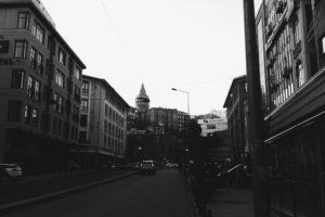 karakoi, Istanbul, Galata Kulesi, Galata, Monochrome