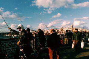 Istanbul, Galata bridge, Fishing