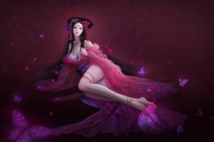 legs, Anime girls, Chinese dress