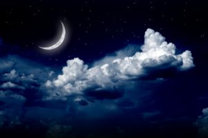 stars, Space, Galaxy, Clouds, Moon, Night