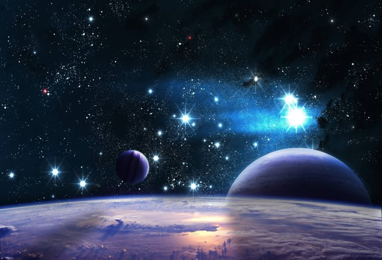 stars, Space, Galaxy, Clouds, Planet, Nebula HD Wallpaper Desktop Background