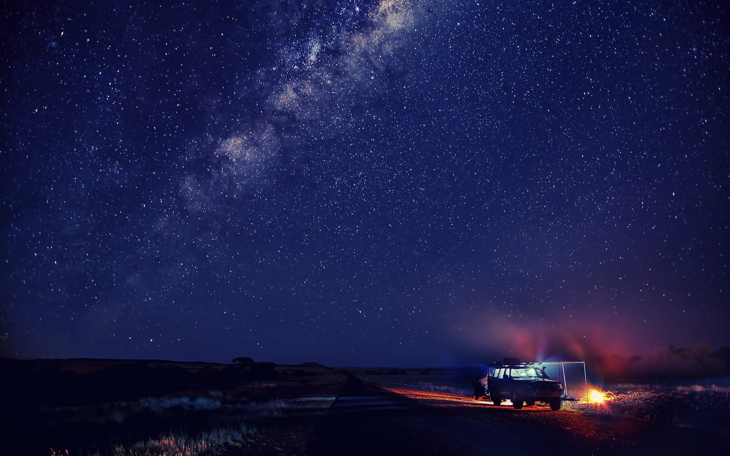 Stars Space Galaxy Milky Way Cabin Night Sky Campfire Hd Wallpapers Desktop And Mobile Images Photos
