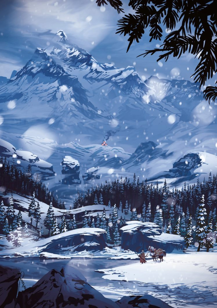 snow, Mountains HD Wallpaper Desktop Background