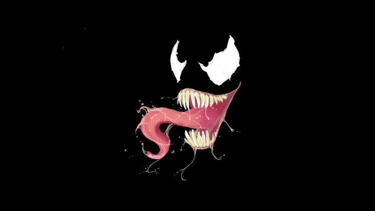 venom marvel comics villains black background hd