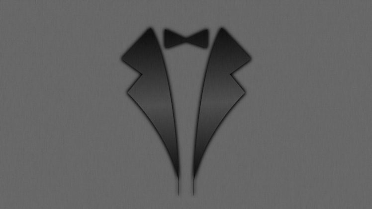 classy, Suits, Tuxedo, Bowtie, Shaders, Gentleman, Simple, Minimalism, Black HD Wallpaper Desktop Background