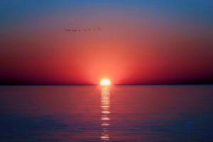 sunset, Sea, Horizon, Photography
