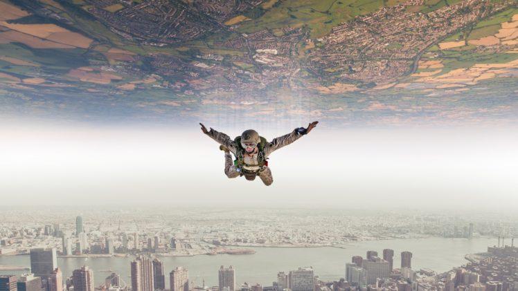 Paratroopers Diving Suits Digital Art Photography HD Wallpaper Desktop Background
