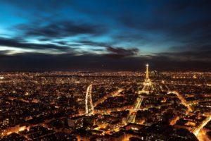 city, Night, Paris, France