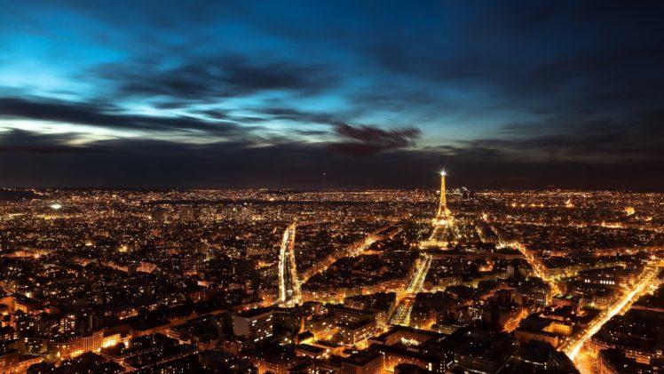 city, Night, Paris, France HD Wallpaper Desktop Background