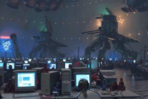 artwork, Aliens, Computer, Science fiction