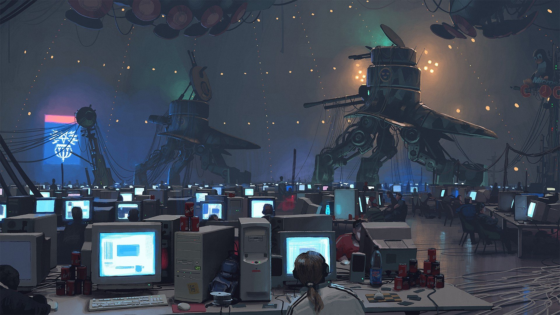 Artwork, Aliens, Computer, Science Fiction HD Wallpapers