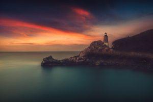 lighthouse, Sea, Horizon, Photography