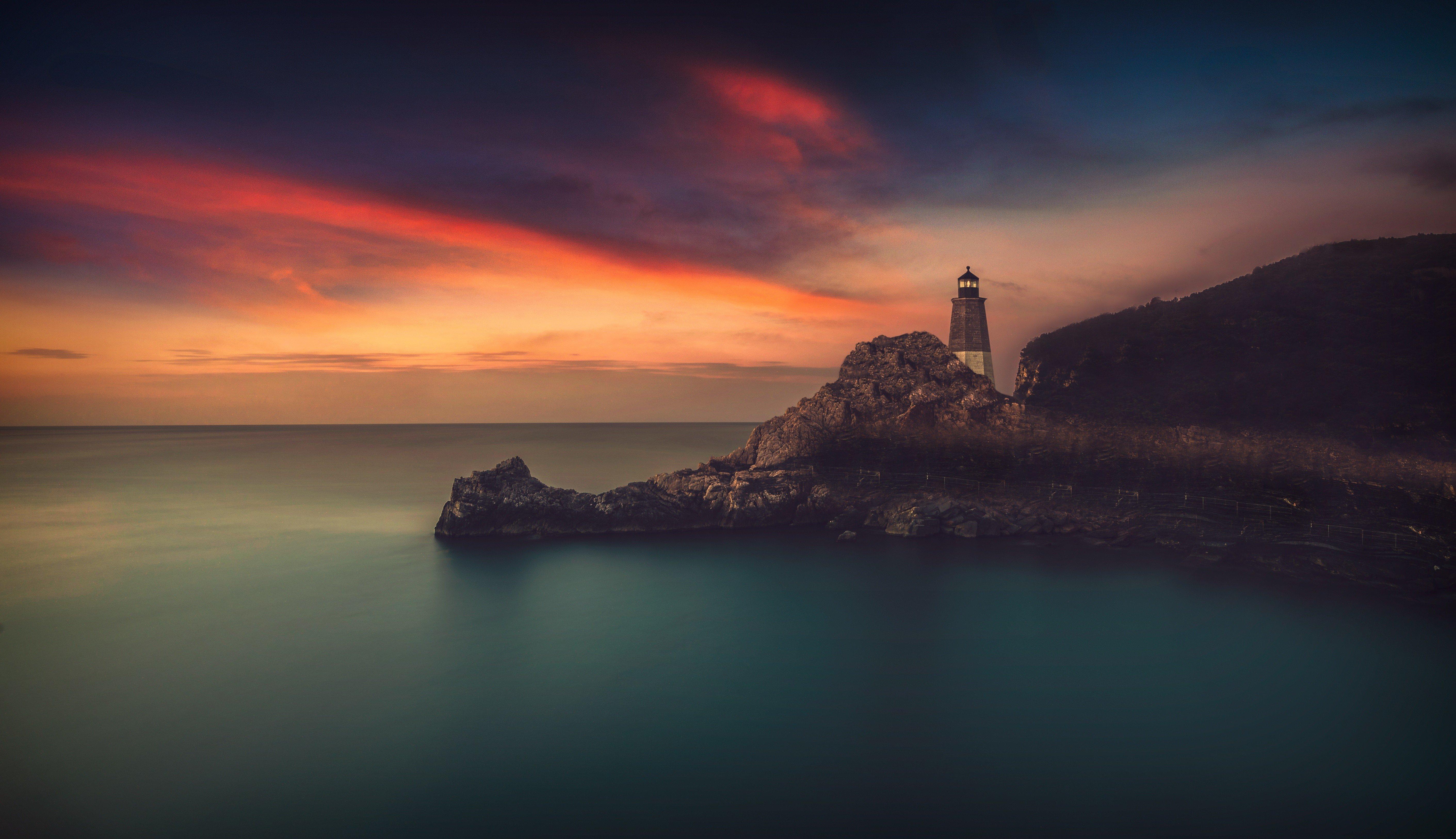 природа маяк море скалы  № 2238455 загрузить