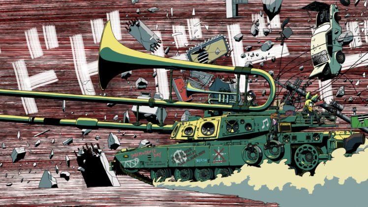 tank, Musical instrument, Artwork HD Wallpaper Desktop Background
