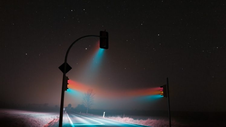 Lucas Zimmermann Photography Traffic Lights Night Stars