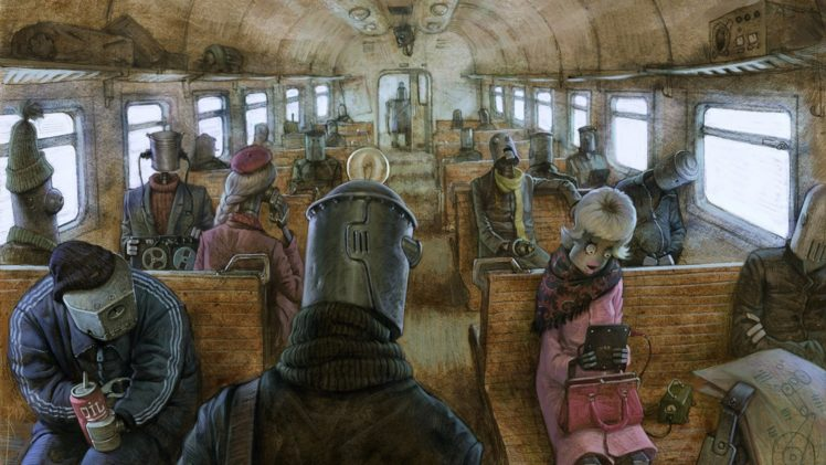 artwork, Robot, Steampunk, Depressing, Machinarium HD Wallpaper Desktop Background