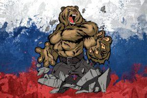 Russia, Bears, Flag