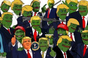 Donald Trump, Pepe (meme), Sadfrog, Kek, North America, USA, Freedom, Memes, Gun, Politics