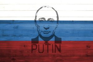 Vladimir Putin, Presidents, Russian, Flag, Wood, Painting