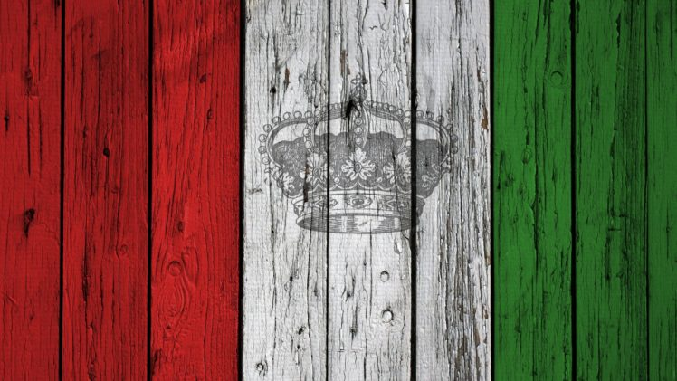Italy, Flag, Crown, Wood HD Wallpaper Desktop Background