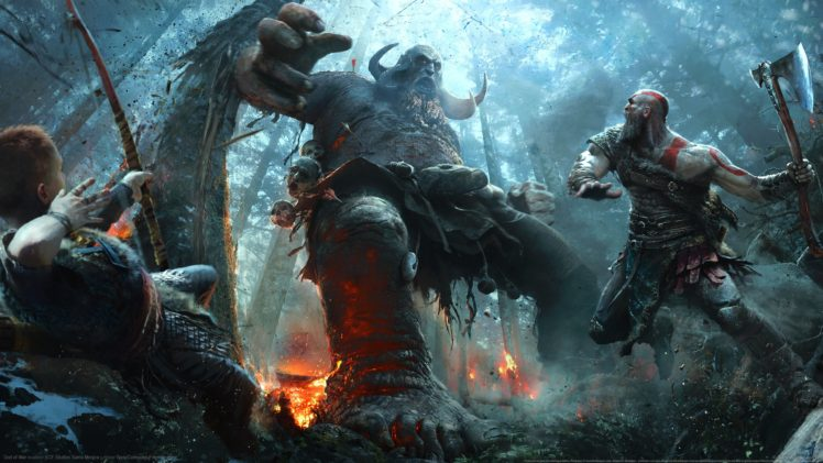 Kratos God Of War Axe Bow HD Wallpaper Desktop Background