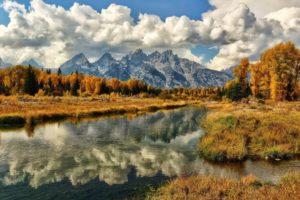 landscape, Mountains, Lake, Reflection