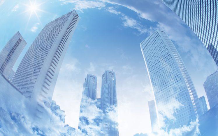 cityscape, Reflection, Skyscraper HD Wallpaper Desktop Background