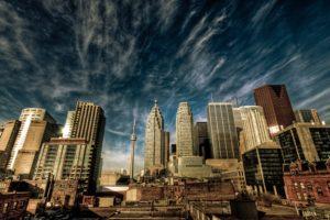 cityscape, Canada, Toronto, HDR
