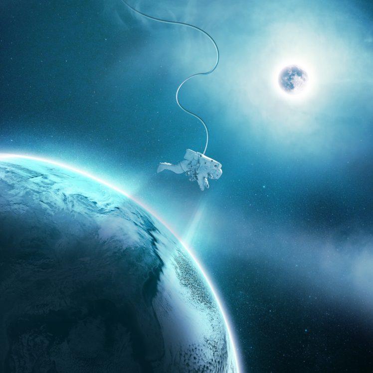 astronaut, Space art, Planet HD Wallpaper Desktop Background