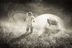 astronaut, Monochrome, Space art