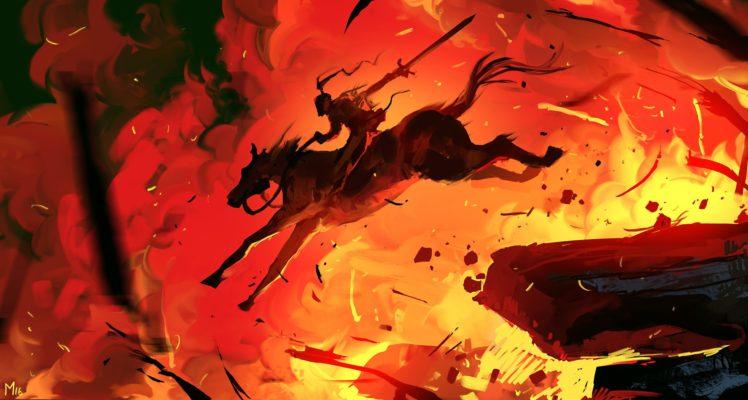 fantasy art, Red nails HD Wallpaper Desktop Background