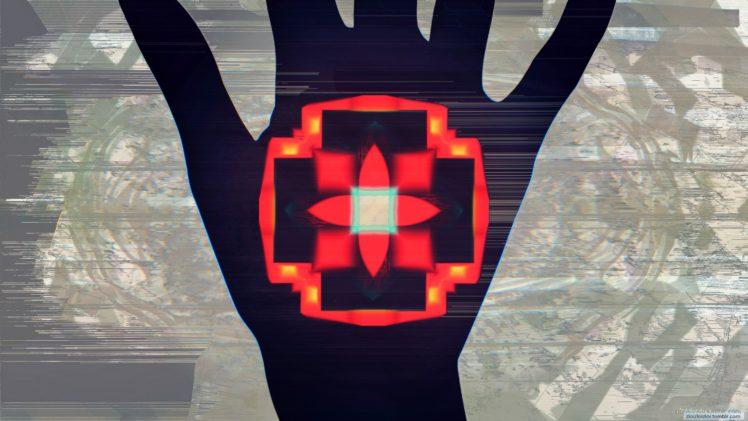 hands, Glitch art, Abstract HD Wallpaper Desktop Background