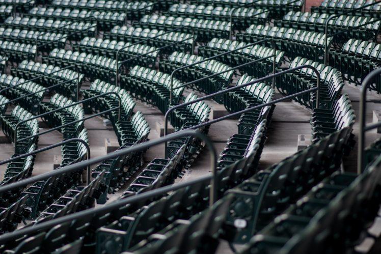 bench, Depth of field, Pattern, Chair, Stadium HD Wallpaper Desktop Background