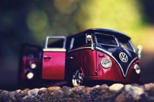macro, Car, Volkswagen, Miniatures, Combi, Vw bus