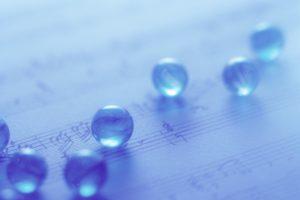 macro, Beads, Sphere, Music Sheet