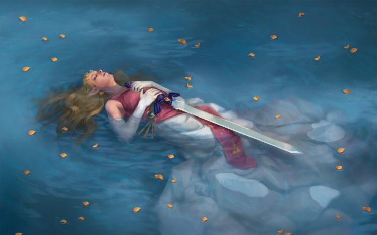 Zelda, The Legend of Zelda, Fantasy art, Fantasy girl, Master Sword HD Wallpaper Desktop Background